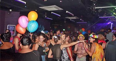 Party-goers attend the Broome Pride Mard
