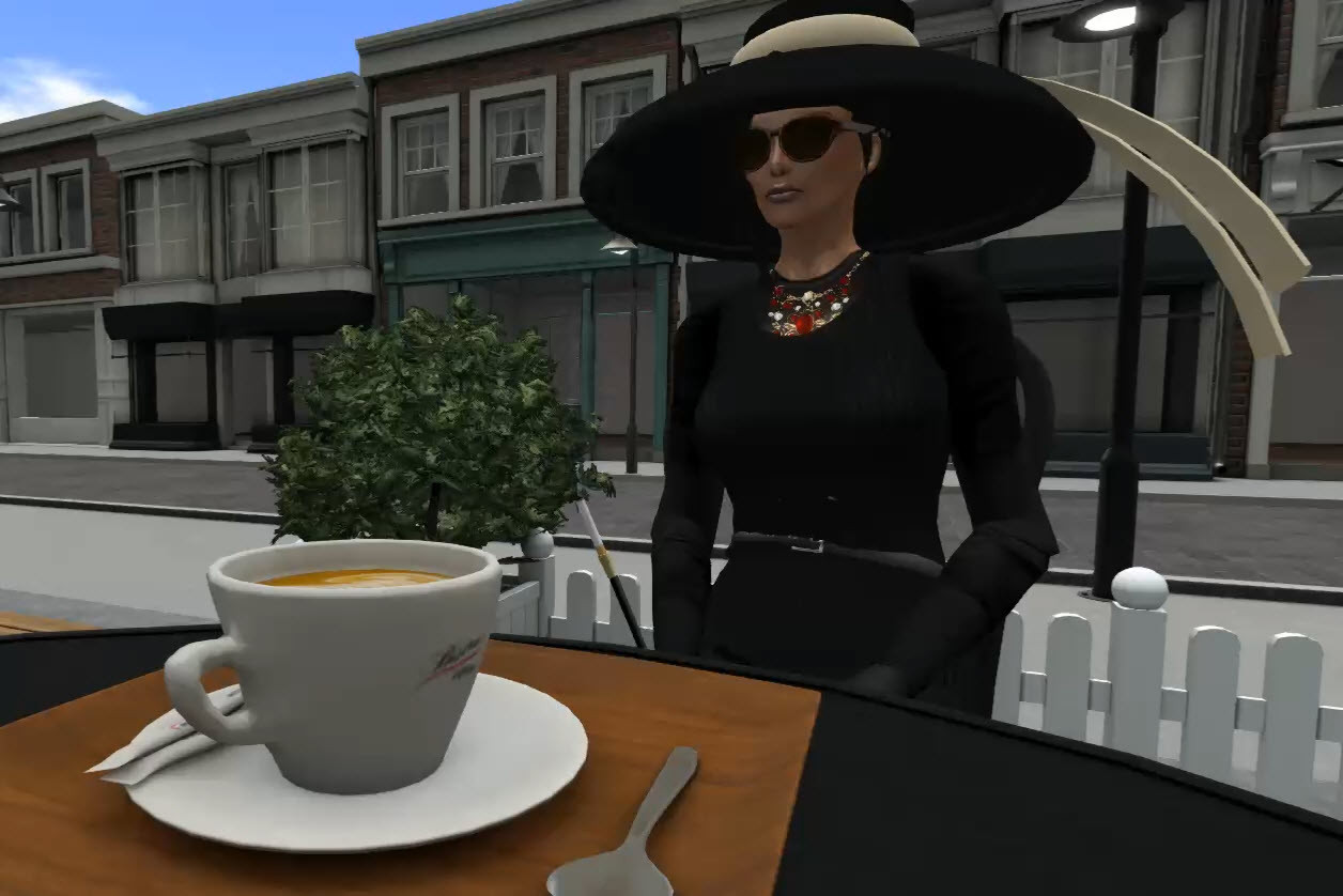 A widow's coffee break