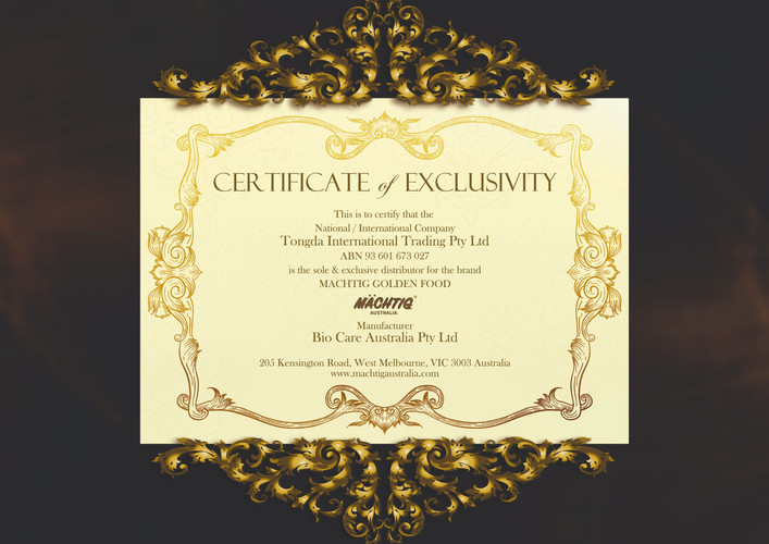 Certificate of Exclusivity
