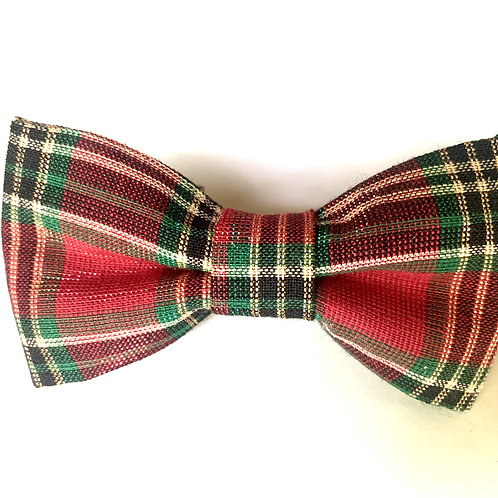 Over the Collar Plaid Bowtie