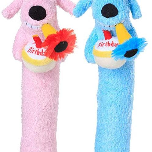 Birthday Loofah Dog Toy