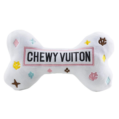White Chewy Vuiton Dog Toy