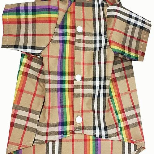 Furberry Remix Collared Shirt