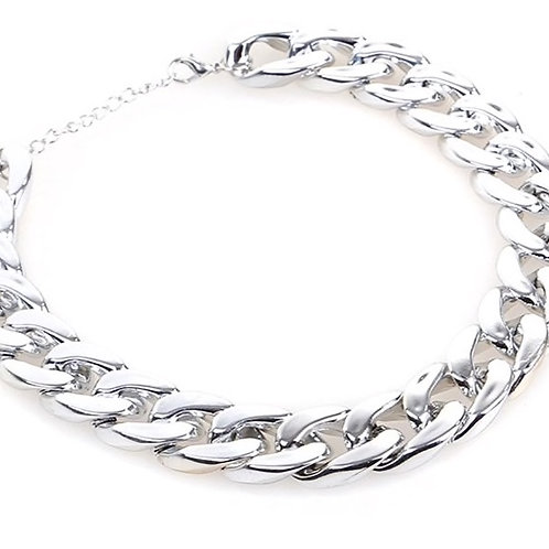 Silver Chain Collar
