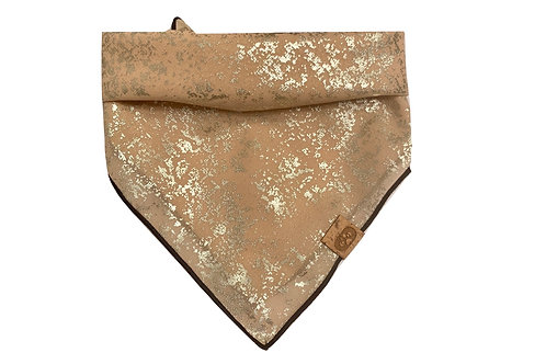 """Golden Flakes"" Bandana Scarf"