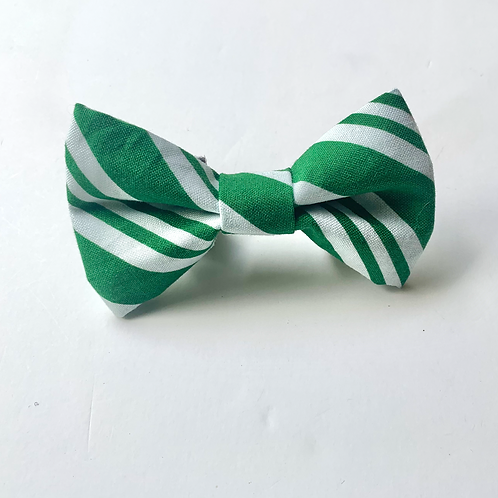 Over the Collar Green Candy Cane Bowtie