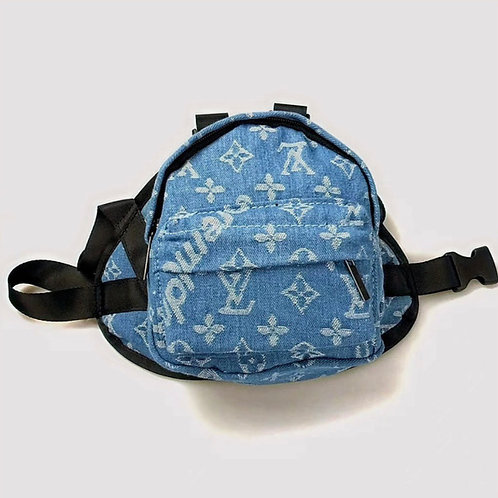Pupreme Denim Backpack Harness