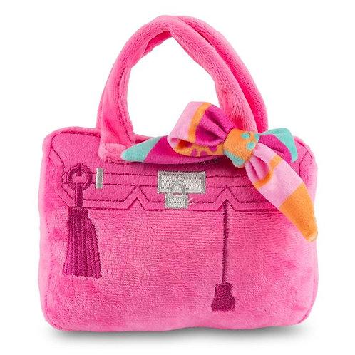 Barkin Bag Pink w/ Scarf Dog Toy