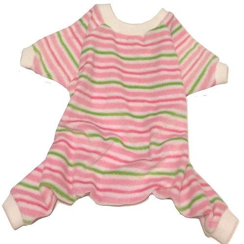 Pink Striped Onesie