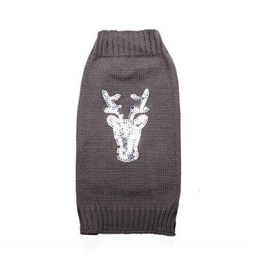 Sequined Deer Sweater