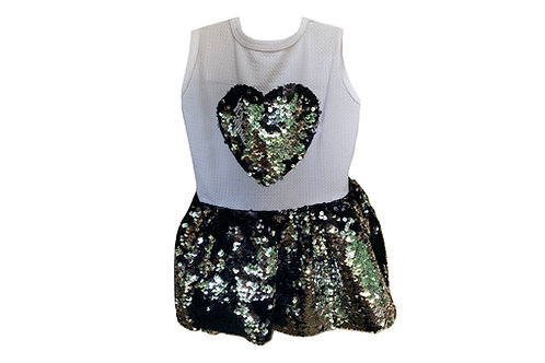 Two-toned Sequin Dress