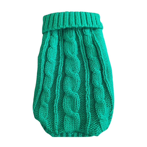 Green Cable Knit Sweater