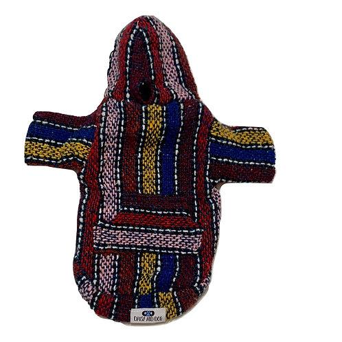 Multi Color Baja Poncho Hoodie