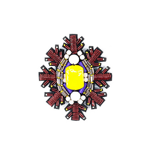 SNOWSTAR Brooch - Embroidery Yellow