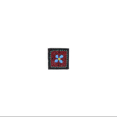 NIGHT FLOWER Brooch - Embroidery Burgundy