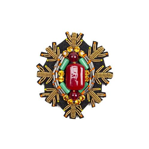 SNOWSTAR Brooch Embroidery Ruby