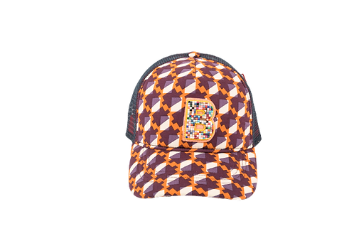 RAPPER Cotton Geometric Orange w/B Mosaic