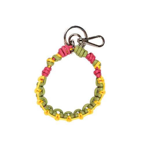 CELTIC KNOTS Key Ring - Olive & Yellow