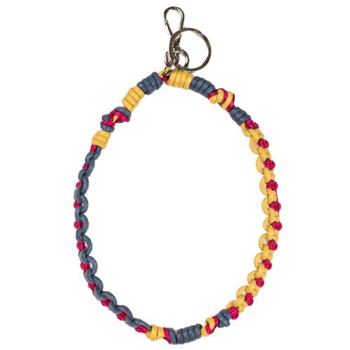 CELTIC KNOTS Long Key Ring - Navy& Fuchsia