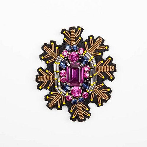 TIARA Brooch Embroidery Purple