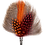 Thumbnail: DROP Brooch Feathers Orange & Red