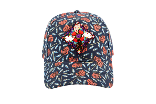 BASEBALL CAP -Coeur de Marie With CROOS Brooch