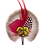 Thumbnail: ROUND Brooch Feathers Pinks & Green