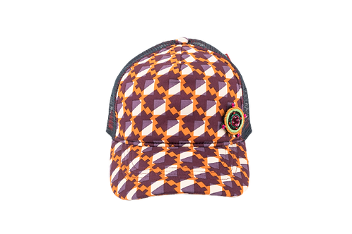 RAPPER Cotton Geometric Orange w/COMPASS