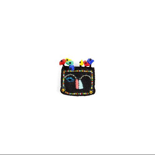 FACE brooch - Embroidery Multicolor