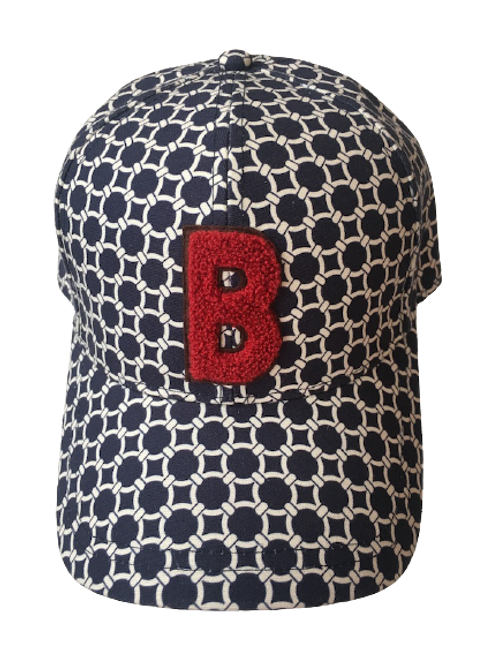 BASEBALL CAP Chainette With B red