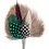 Thumbnail: DROP Brooch Feathers Green & Brown