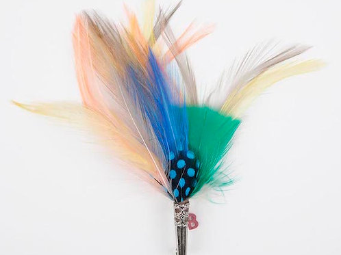 LOOSE Brooch Feathers Pastels & Blue