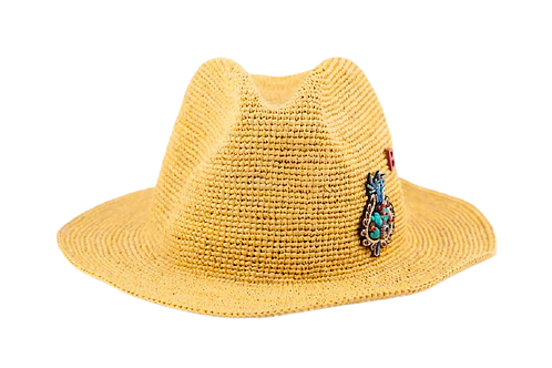 FEDORA NATURAL YELLOW With INDIENNES