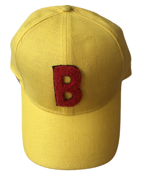 BASEBALL Linen Yellow With B red