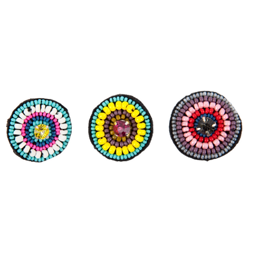 COCARDE Brooches - Embroidery 3 colour variations