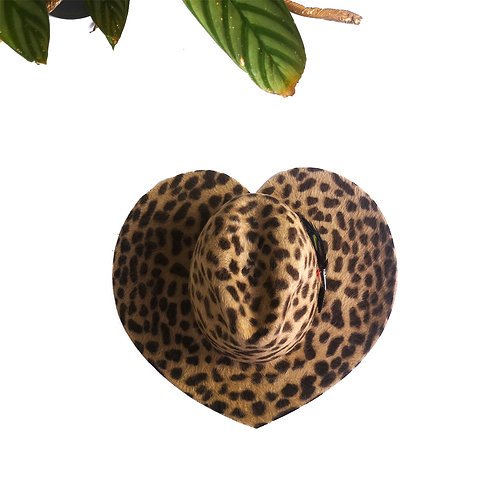 LOVE Leopard with CANADA Leaf & LOOSE Brooch Black