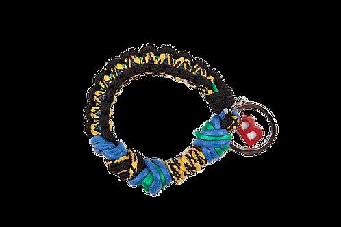 CELTIC KNOTS Key Ring - Black & Eraser Blue