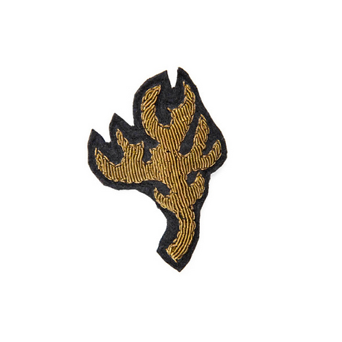 ANTLER Brooch Embroidery Gold