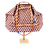 Thumbnail: CANDIDE - Cotton Geometric Orange w/Blue & Orange Handmad Embellish