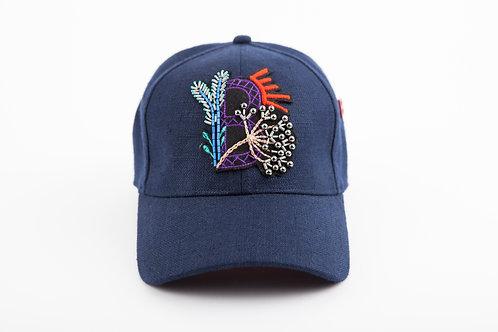 BASEBALL CAP NAVY With B FLOWER