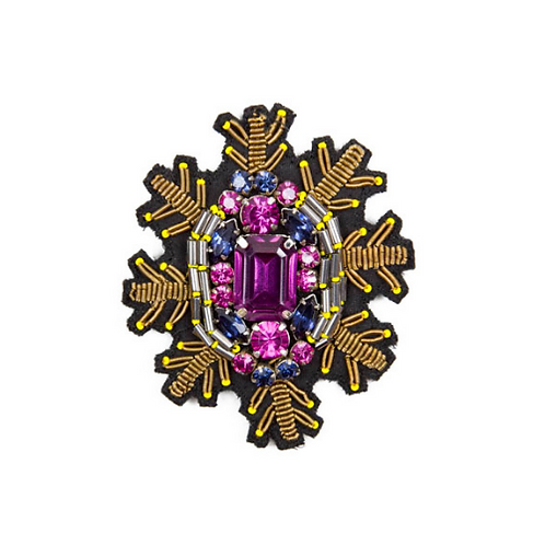 SNOWSTAR Brooch - Purple
