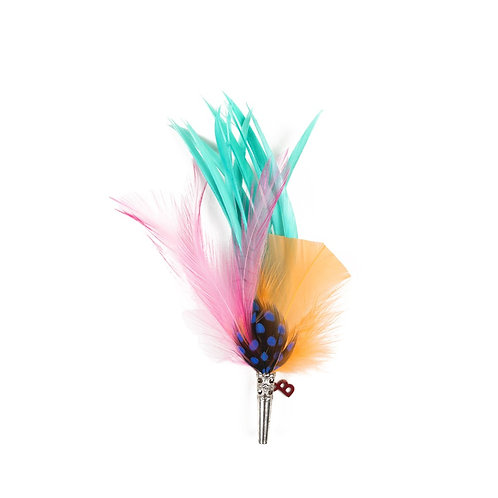 PARADISE BIRD Brooch  - Feathers
