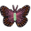 Thumbnail: BUTTERFLY Brooch - Embroidery Pink