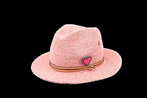 FEDORA Bi-Weave Hat w/Handmade Embellishement