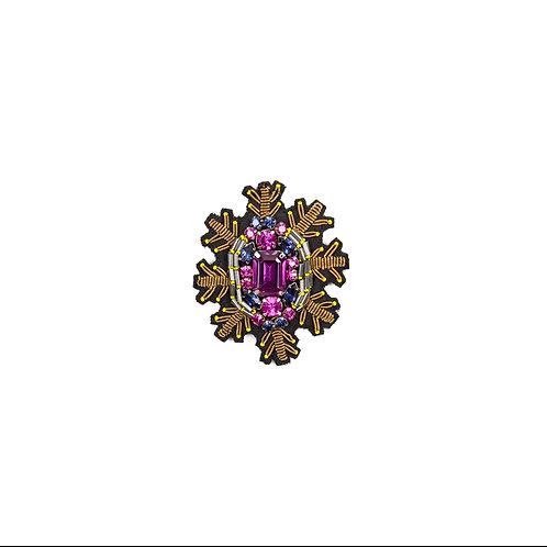 SNOWSTAR Brooch Embroidery Purple