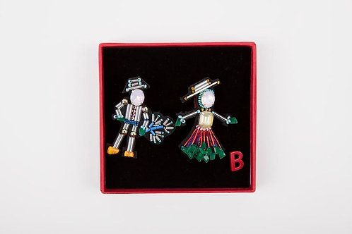 SOUTHERN COUPLE Brooches Pink