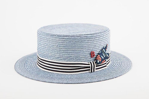 BOATER Straw Blue