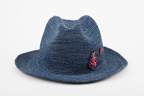 FEDORA BLUE GREY With INDIENNES
