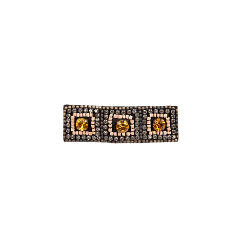 STRASS TIARA Brooch - Embroidery Natural
