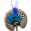 Thumbnail: ROUND Brooch Feathers Royal Blues